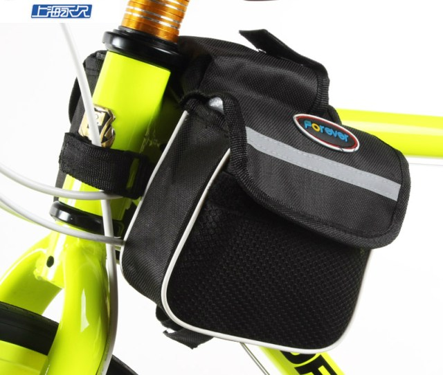 Get Quotations  C B Permanent Bilateral Bike Bag On The Front Tube Bag Bike Bag Bicycle Riding Equipment Accessories Mountain
