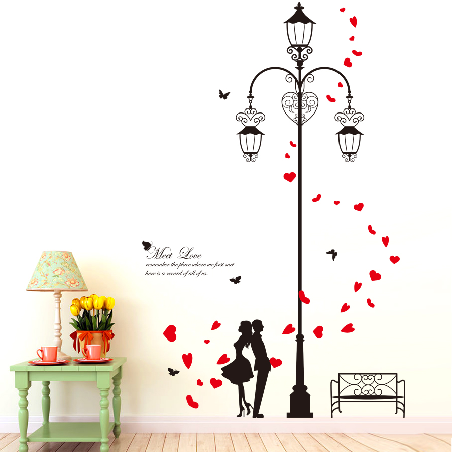 Buy Love Under The Lights At Room Temperature Wall Stickers Bedroom Wall Painting Decorative Wall Stickers Living Room Wall Stickers Wall Stickers Romantic Couples In Cheap Price On Alibaba Com