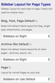 Select Sidebar Layouts