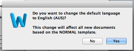 FAQ: How to I change the default language in Word for Mac
