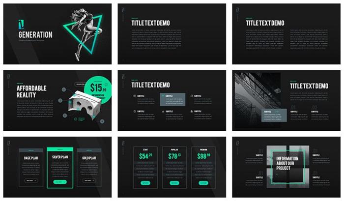 sleek powerpoint templates