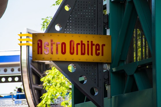 Astro Orbiter Sign - Magic Kingdom Attraction