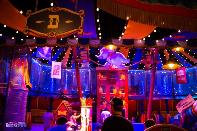 Circus Tent Waiting Area - Dumbo the Flying Elephant - Magic Kingdom-Attraction