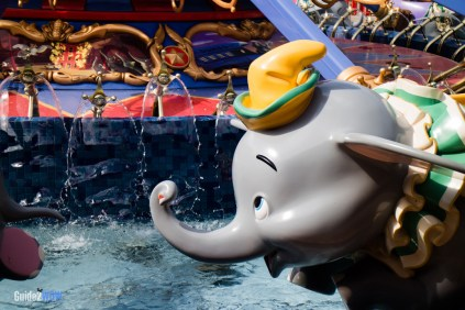 Dumbo the Flying Elephant Up Close - Magic Kingdom-Attraction
