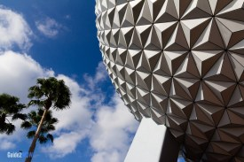 Spaceship Earth Exterior - From Below