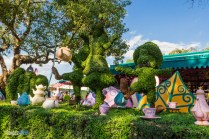 Mad Tea Party - Topiaries - Magic Kingdom Attraction
