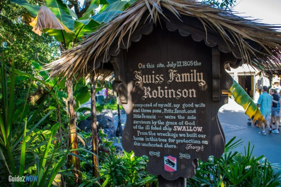 Swiss Family Robinson Treehouse - Sign - Magic Kingdom Attraction