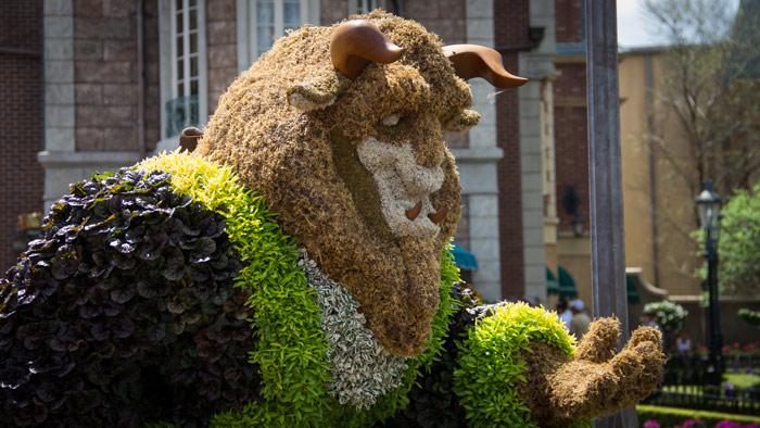 Beast Topiari - Epcot Flower and Garden Festival