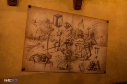 Enchanted Tales with Belle - Maurice's Drawing Queue - Magic Kingdom Attraction