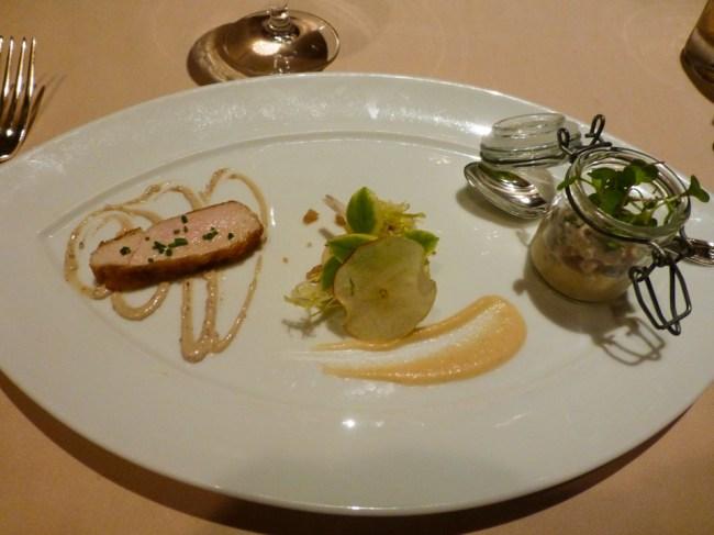 Pintade Femiere Verrine with Fuji Apples and Walnuts - Victoria & Albert's - Disney World Dining
