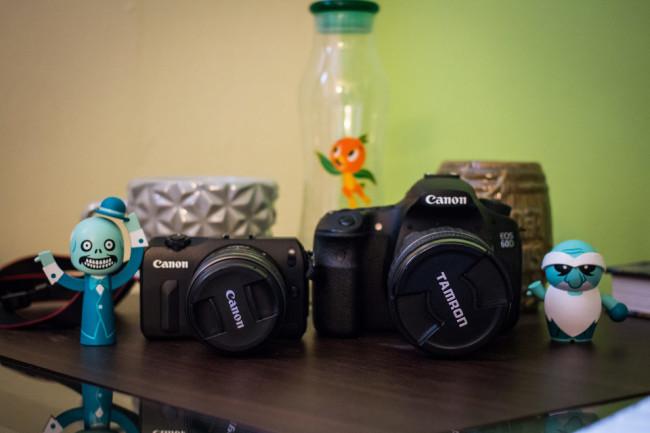 Canon EOSM and Canon 60D Comparison