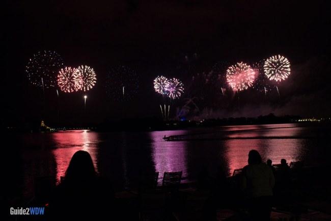 Polynesian Village Resort Beach - Fireworks