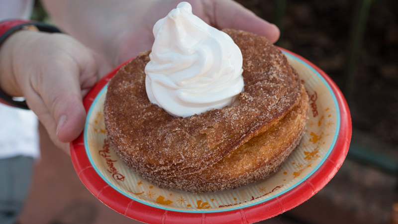 Epcot Croissant Donut with Ice Cream Review - Disney World Dining