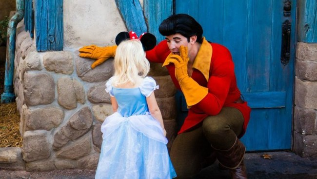 Gaston and Little Girl - New Fantasyland - Walt Disney World