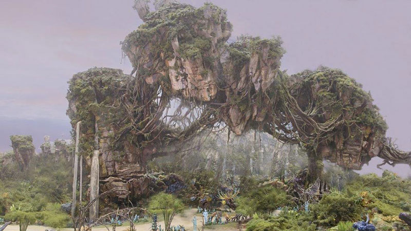 Avatar Land at Animal Kingdom concept art.