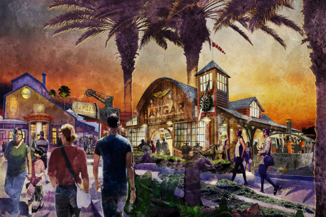 Jock Lindsey's Hangar Bar - Concept Art Exterior - Indiana Jones Bar at Downtown Disney Bar