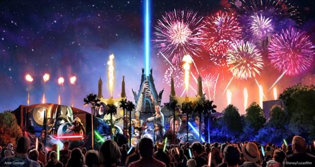 New Star Wars Fireworks at Disney World - Concept Art