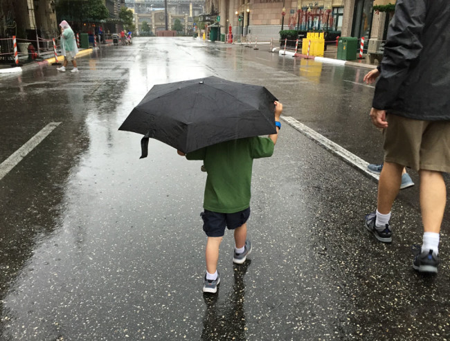 Rain at Disney World