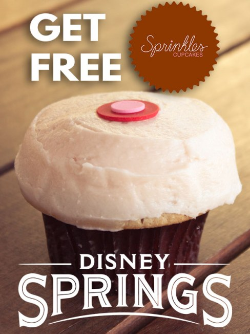 Free Sprinkles Cupcakes at Disney Springs