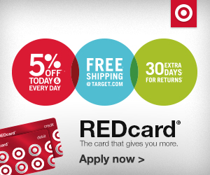 Red Card - Get 5% Cash Back at Target