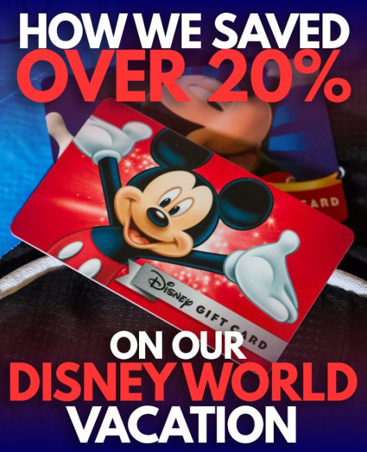 How we saved over 20% on our Disney World Vacation