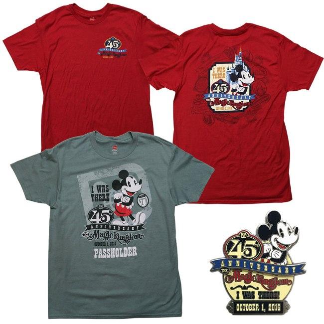 Disney World 45th Anniversary Merchandise -Shirts 1