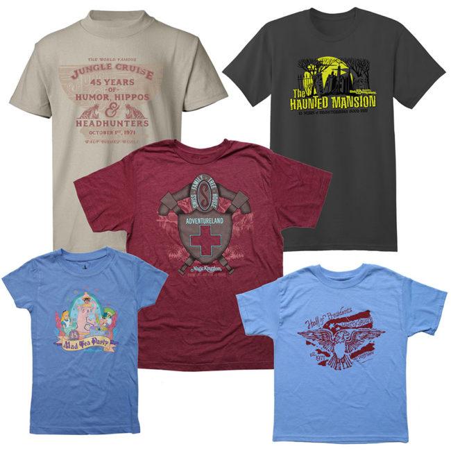 Disney World 45th Anniversary Merchandise -Attraction Shirts
