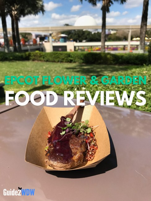 Epcot Flower and Garden Festival Food Reviews