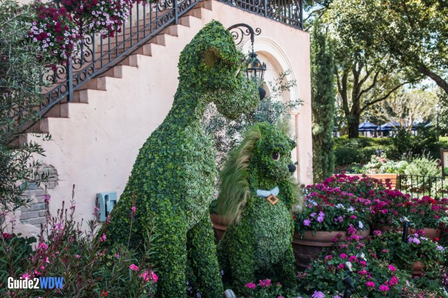 Lady and the Tramp - Topiaries at the Epcot Flower and Garden Festival