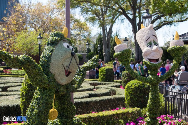 Lumiere and Cogsworth - Topiaries at the Epcot Flower and Garden Festival