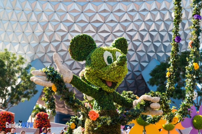 Mickey Mouse - Closeup - Topiaries at the Epcot Flower and Garden Festival
