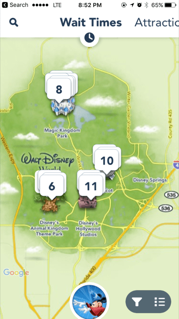 My Disney Experience App Map