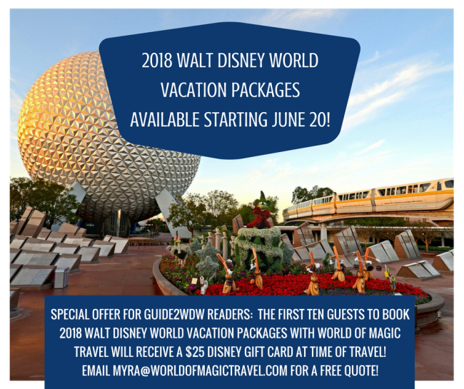 2018 Walt Disney World Packages - Promo