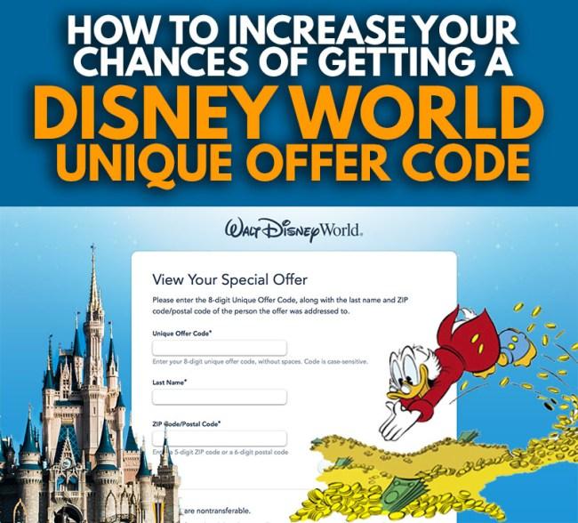 Disney World Unique Offer Code Strategies