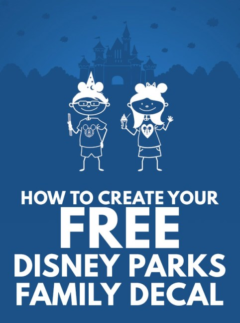 Free Disney Parks Family Decal - Disney World Freebie