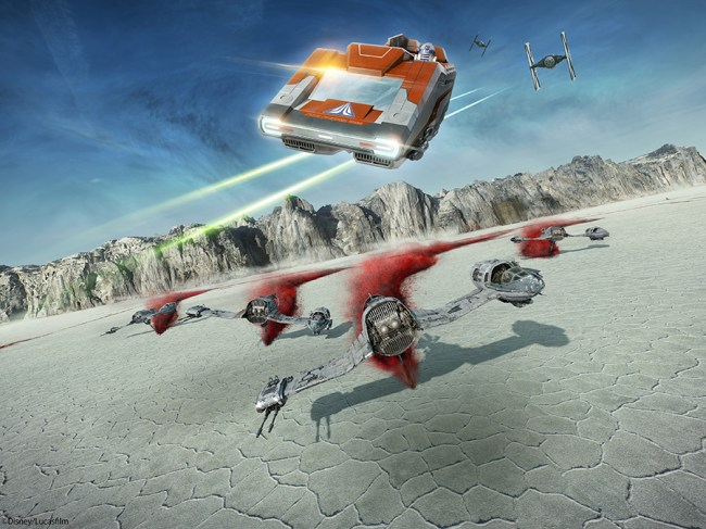 Star Tours - Crait - Last Jedi Scene