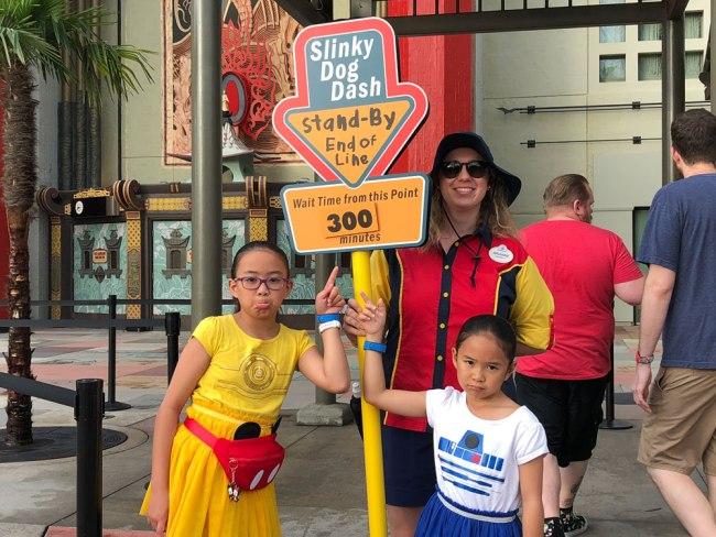 Long Wait Time - Slinky Dog Dash - Disney World