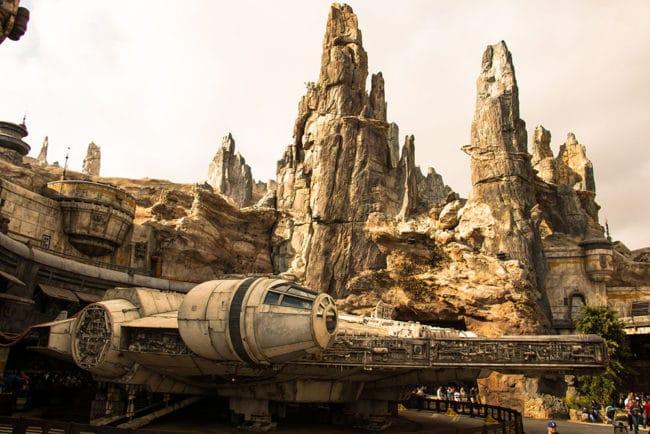 Millennium Falcon Exterior Star Wars Galaxys Edge - Disneyland - Guide2WDW