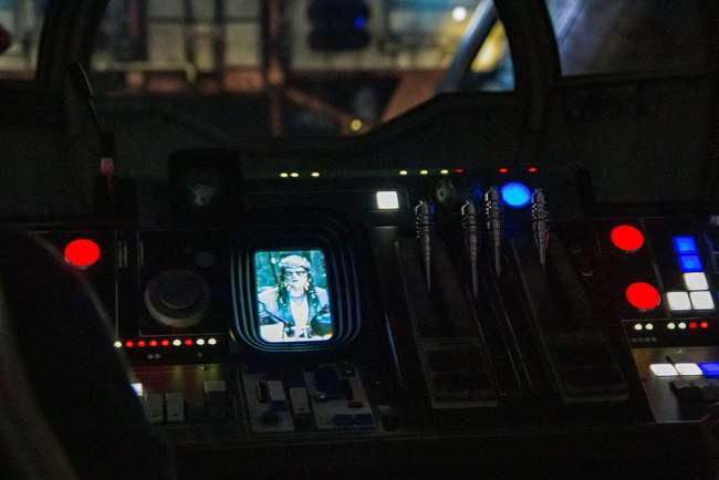 Hondo Falcon Control Panel- Millennium Falcon Smugglers Run Ride Guide- Guide2WDW