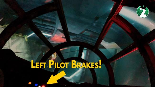 Left Pilot Brakes - Millennium Falcon Smugglers Run Ride Guide