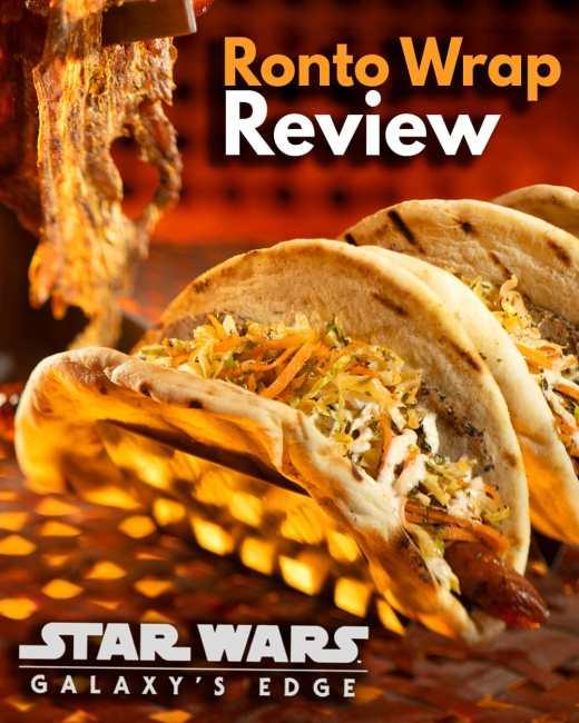 Ronto Wrap Review - Disneyland Disney World Food
