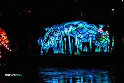 Animal Floats - Rivers of Light - Animal Kingdom Show - Disney World Entertainment - Guide2WDW
