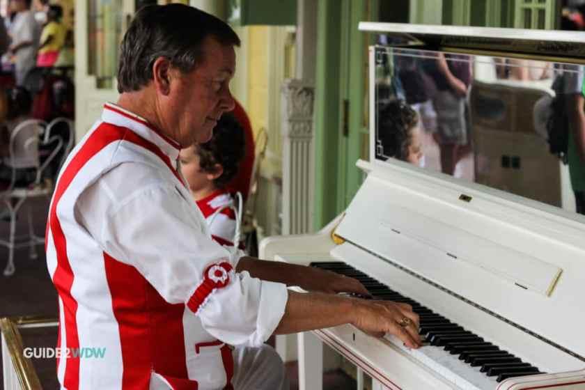 Casey's Corner Piano Player - Main Street Entertainment - Magic Kingdom