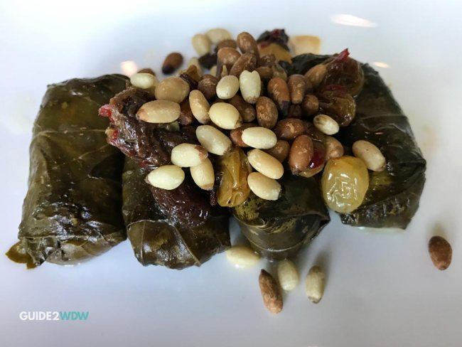 Rice Stuffed Grape Leaves - Spice Road Table - Epcot Dining