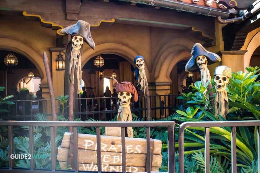 Skeleton Heads - A Pirate's Adventure – Treasure of the Seven Seas - Magic Kingdom Attraction