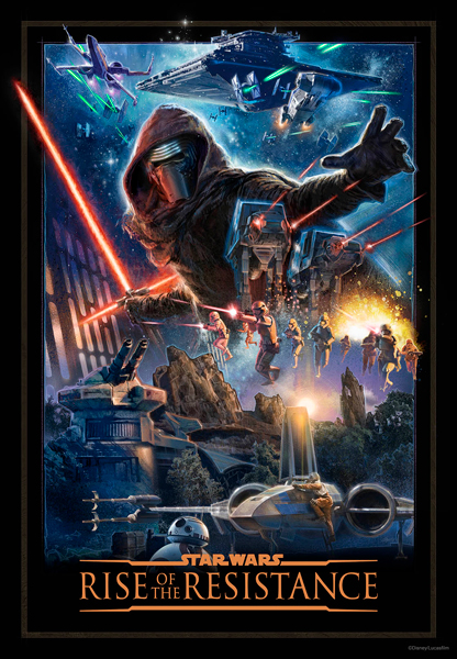 Rise of the Resistance Attraction Poster