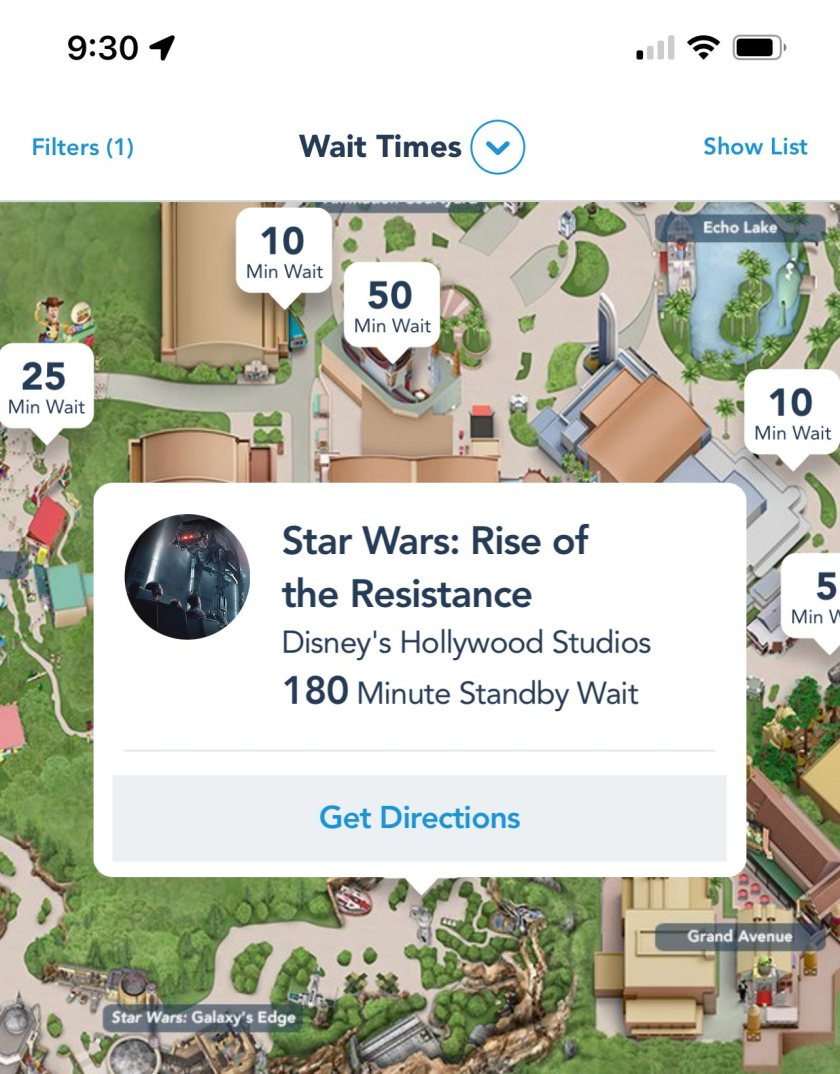 Rise of The Resistance - 180 Minute Wait Time - Standby
