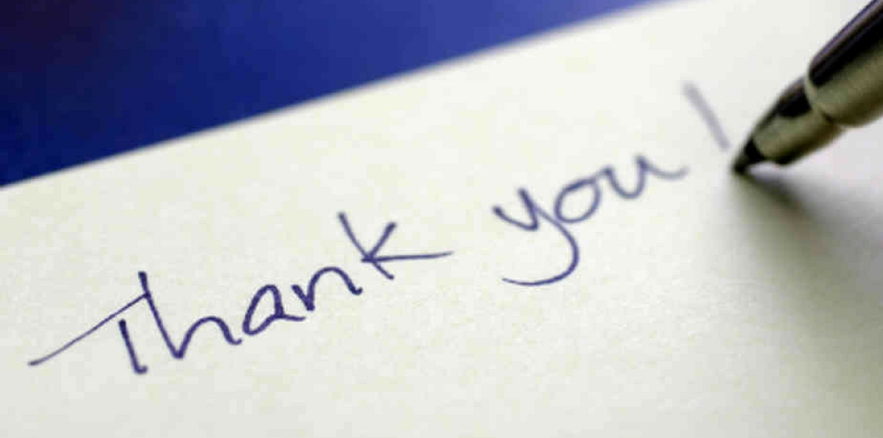 write memorable thank you
