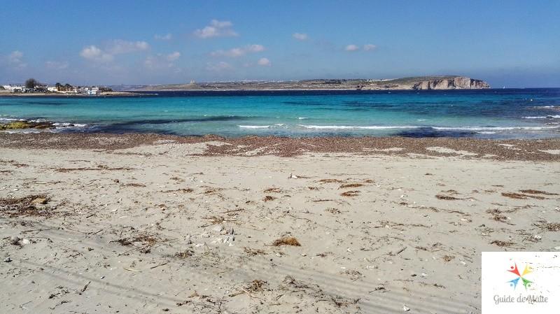 plage sable little armier malte
