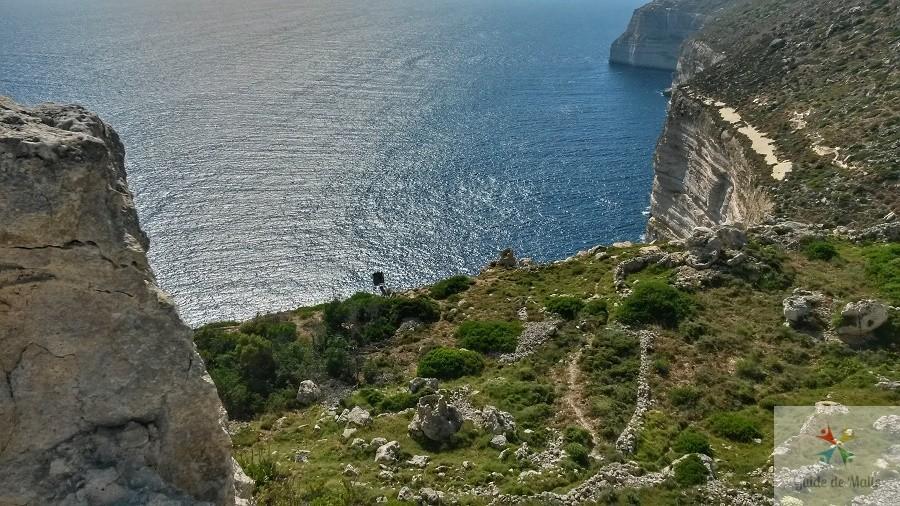 promenade falaises malte Fawwara